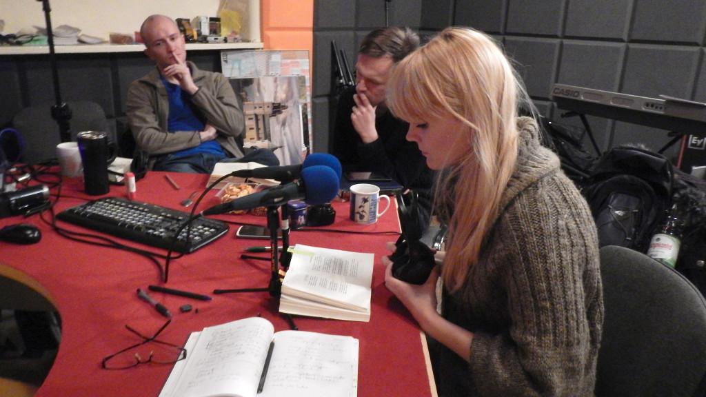 Na zdjęciu od lewej Adrian Wiśniewski, Kamil Dominiak i Gabriela Oberbek.